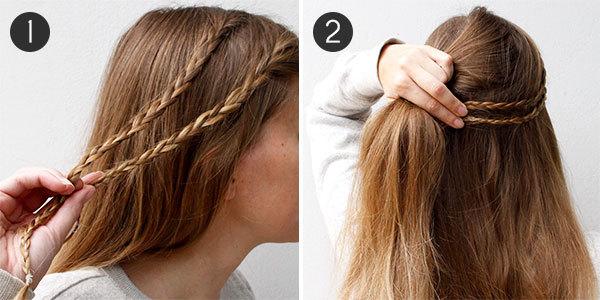 Small Braid Coronet Hairstyle Coronet Hair