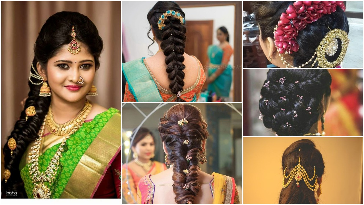 An Image showing the latest bridal hairstyle ideas trending in 2019.