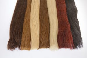 Image Showing Seven Types of Hair Extensions with different colors.
